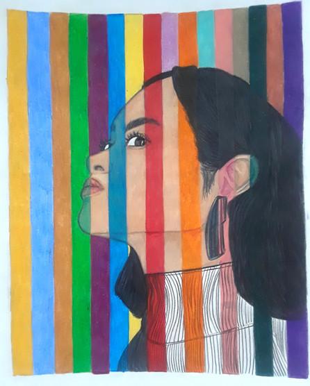 Danielle Makungu-Pululu - À travers les couleurs (Techniques mixtes)