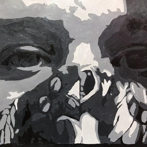 9-9 Ani-Bergevin-Les Yeux-Peinture Acril
