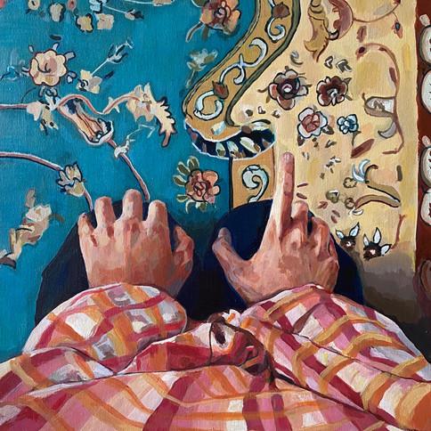 10-Wafa Amrouche, Calming Action, acryli