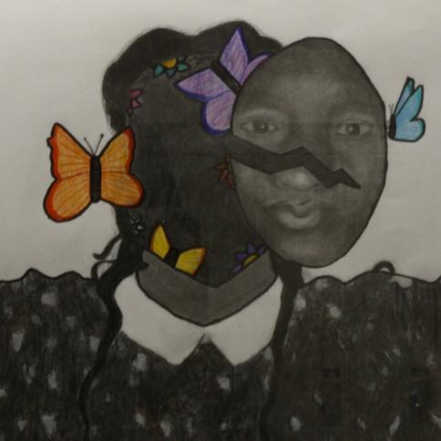 9-Tessia Odubella, Crayon graphite et de