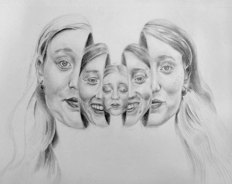 Amélie Binnie - Autoportrait (Crayons de graphite)