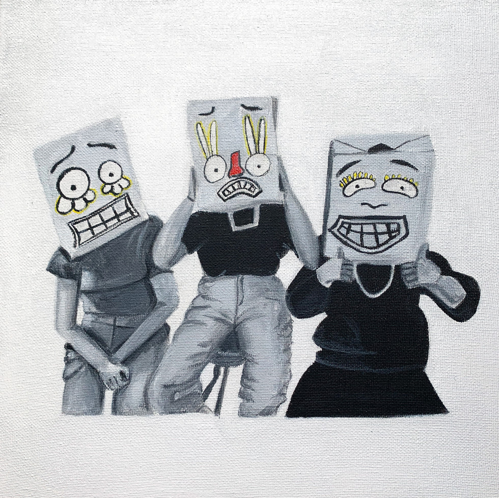 Laurence Rochon - Sacs de papier (Acrylique)