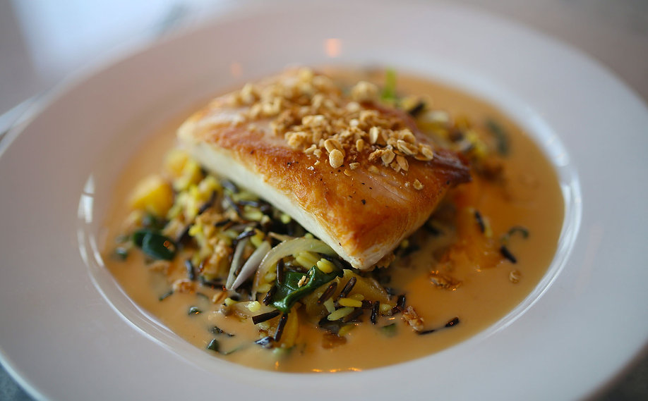This is a closeup photo of one of the famous fish dishes served at the Fisheries.