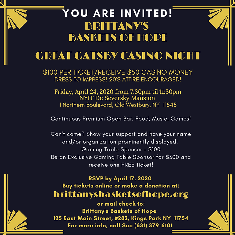 Great Gatsby Casino Night
