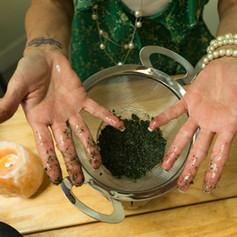 Claudene's Hands Making Our Products