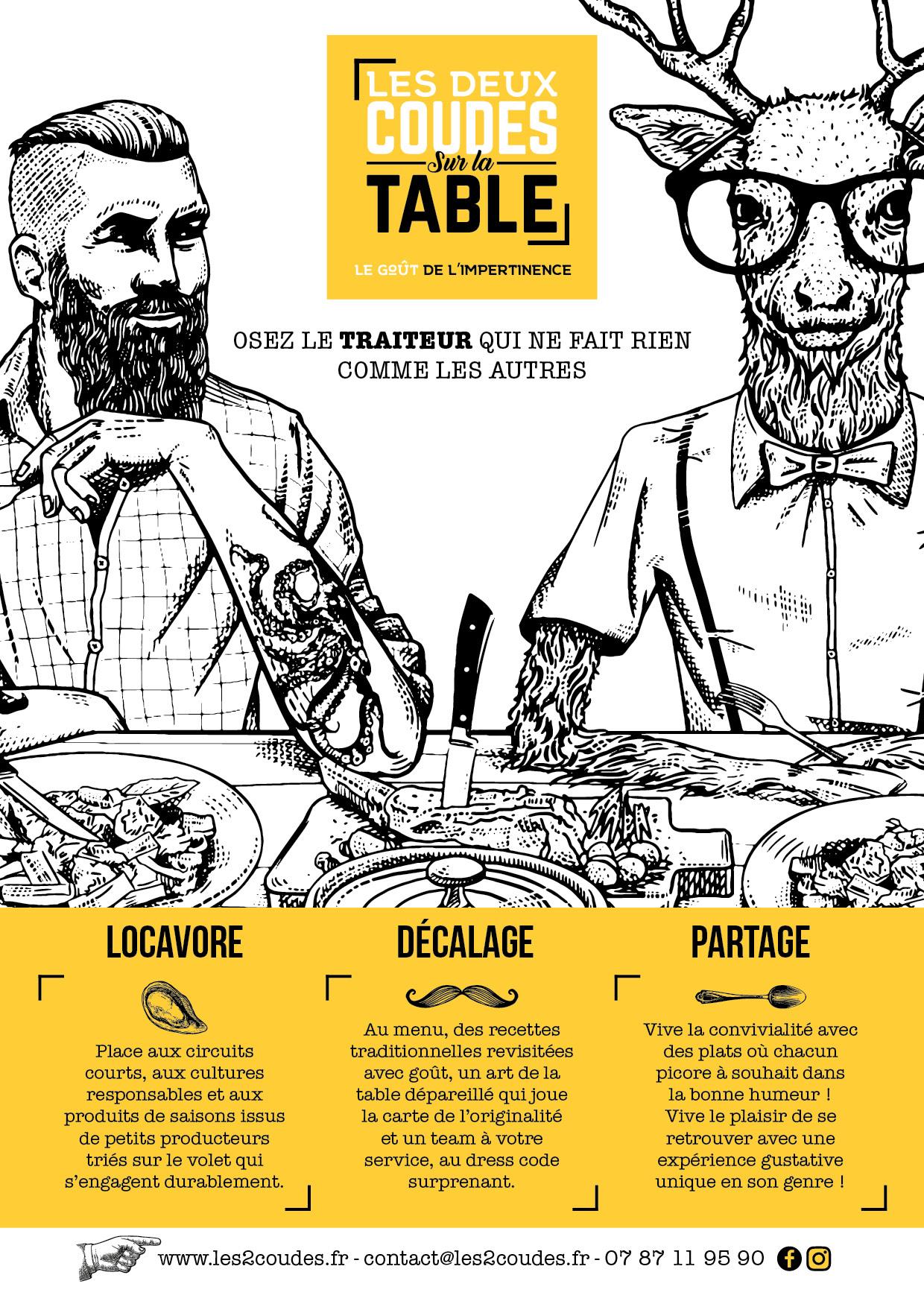 Les 2 Coudes Sur La Table