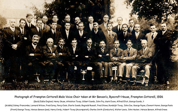 FCMVC 1926, Mr Benson's, Ryecroft House,