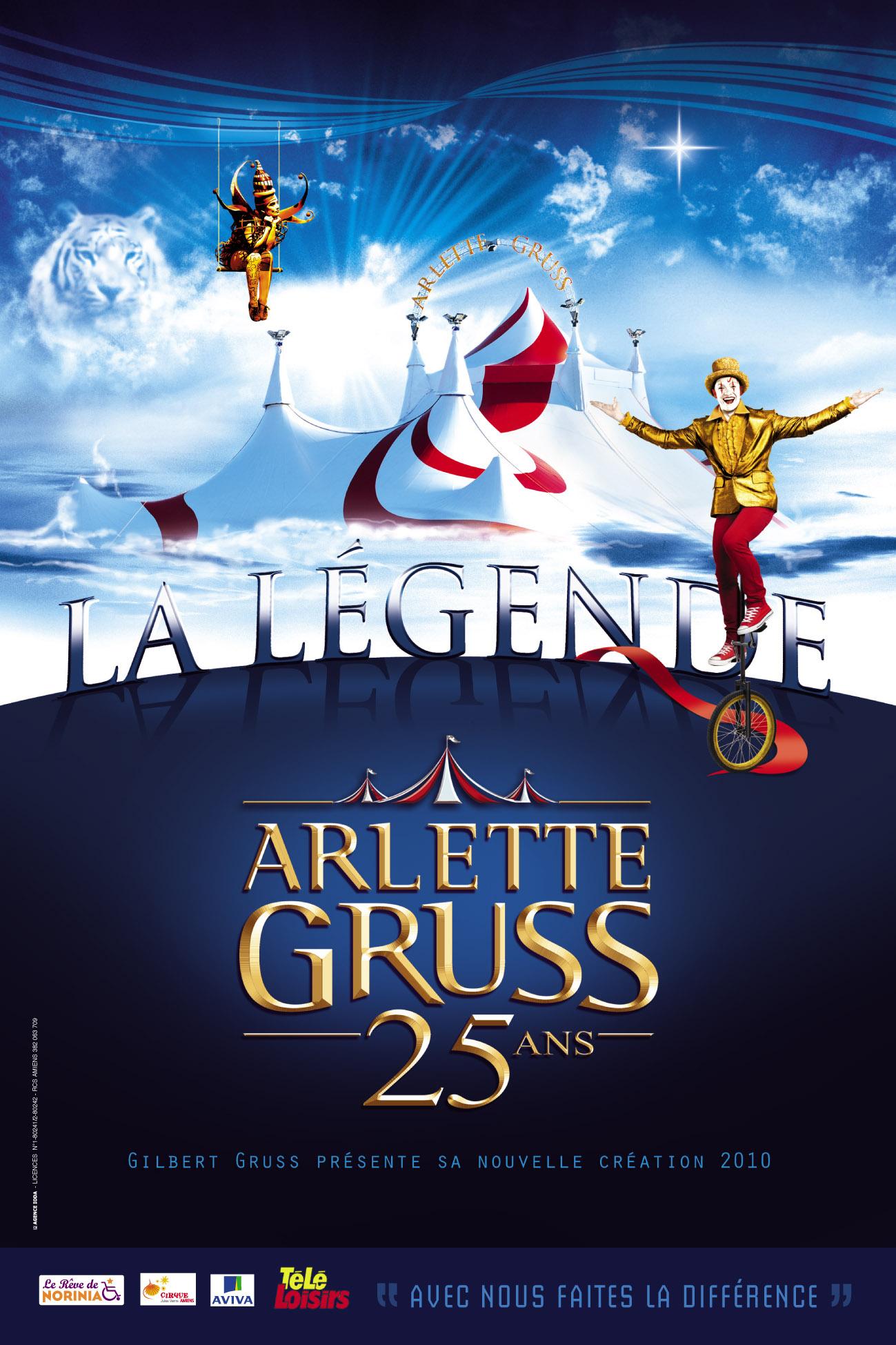 Légende - Cirque Arlette Gruss