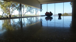 Polished concrete bench top