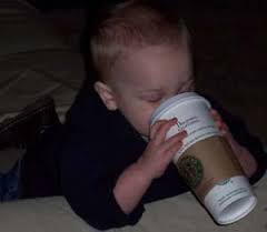 Picture of child drinking coffee