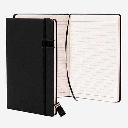 Caderneta para Anotações 80 fls com Pen Drive 4GB