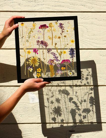 Square Custom Pressed flower Wood Float Frame