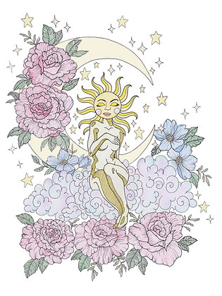 Sun Goddess Print