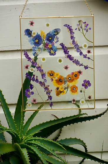 Butterfly Pressed Flower Frame