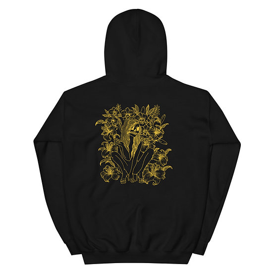 14kt Gold Floral Catrina Hoodie