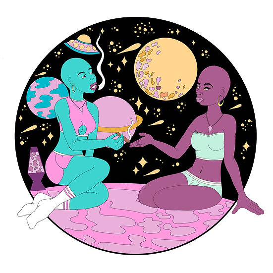 Space Babes Print