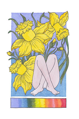 Daffodil Girl Poster
