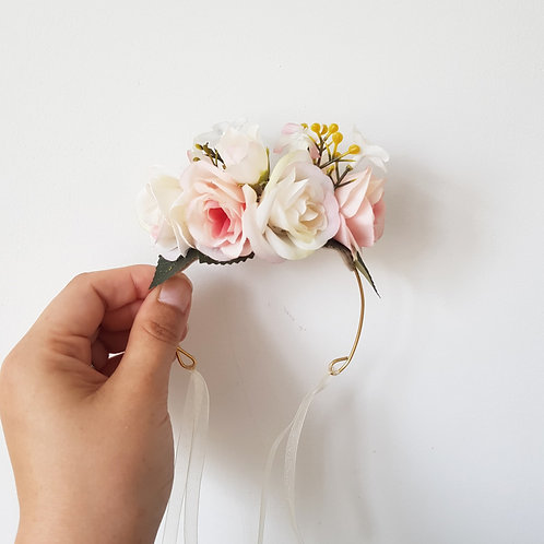 Hand Made Pet Flower Crown - Soft Colors