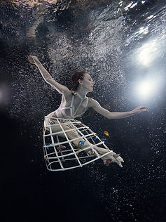 Underwater photography dancers
