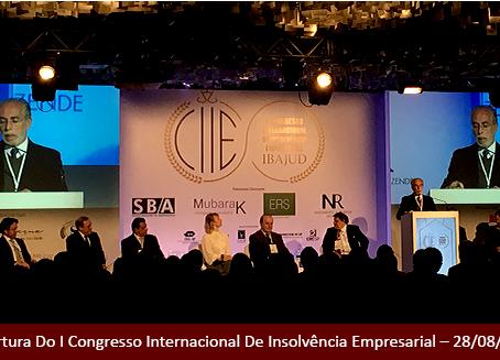 Sócios do escritório CMNM participam do I Congresso Internacional de Insolvência Empresarial.