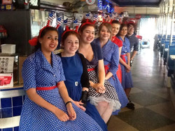 Hi all the 50s diner diner re-poens at 12 noon tomorrow and also monday guys so dont forget book you