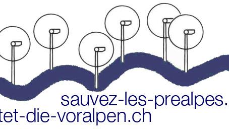 «Sauvez les Préalpes» prend position concernant la consultation sur la «Conception énergie éolienne»
