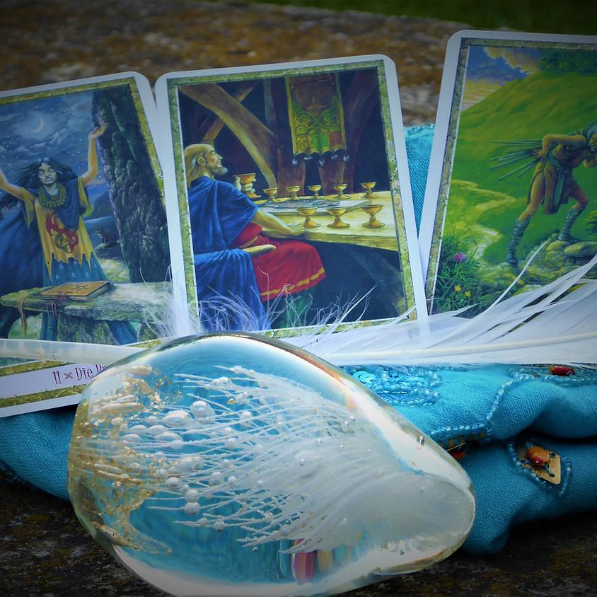 Kartenmagie Seminar Online mittwochs /  5 Termine zu je 3 Std.