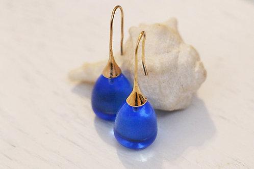 Серьги-желуди с синимгорным хрусталем