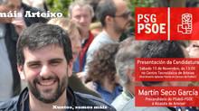 """Martín Seco García (Sº Xeral do PSdeG-PSOE en Arteixo): """"Como un militante máis, comezo o proceso pa"""