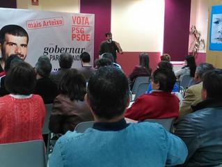 Martín Seco anima a votar ao PSOE para pór en marcha iniciativas  para as persoas e contra as políti