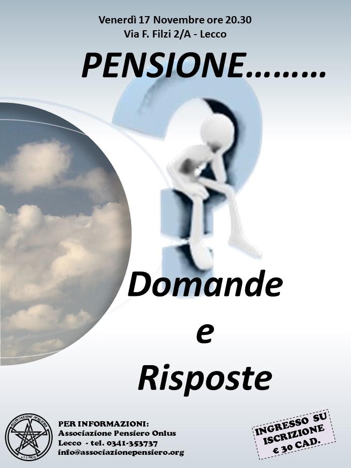 Pensione 2017 LOCANDINA