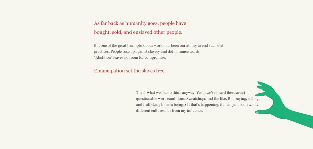 Slavery Footprint website