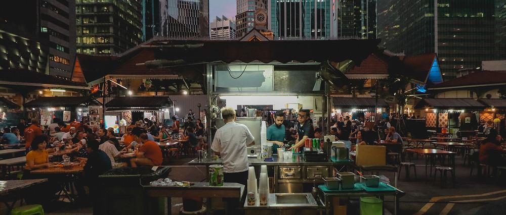 Lau Pa Sat Food Court Singapore
