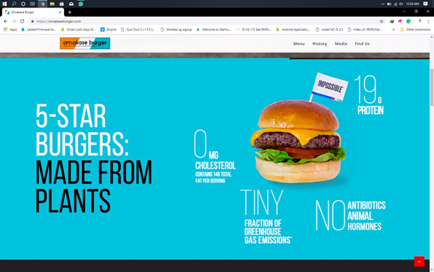 Omakase Burger Web Design