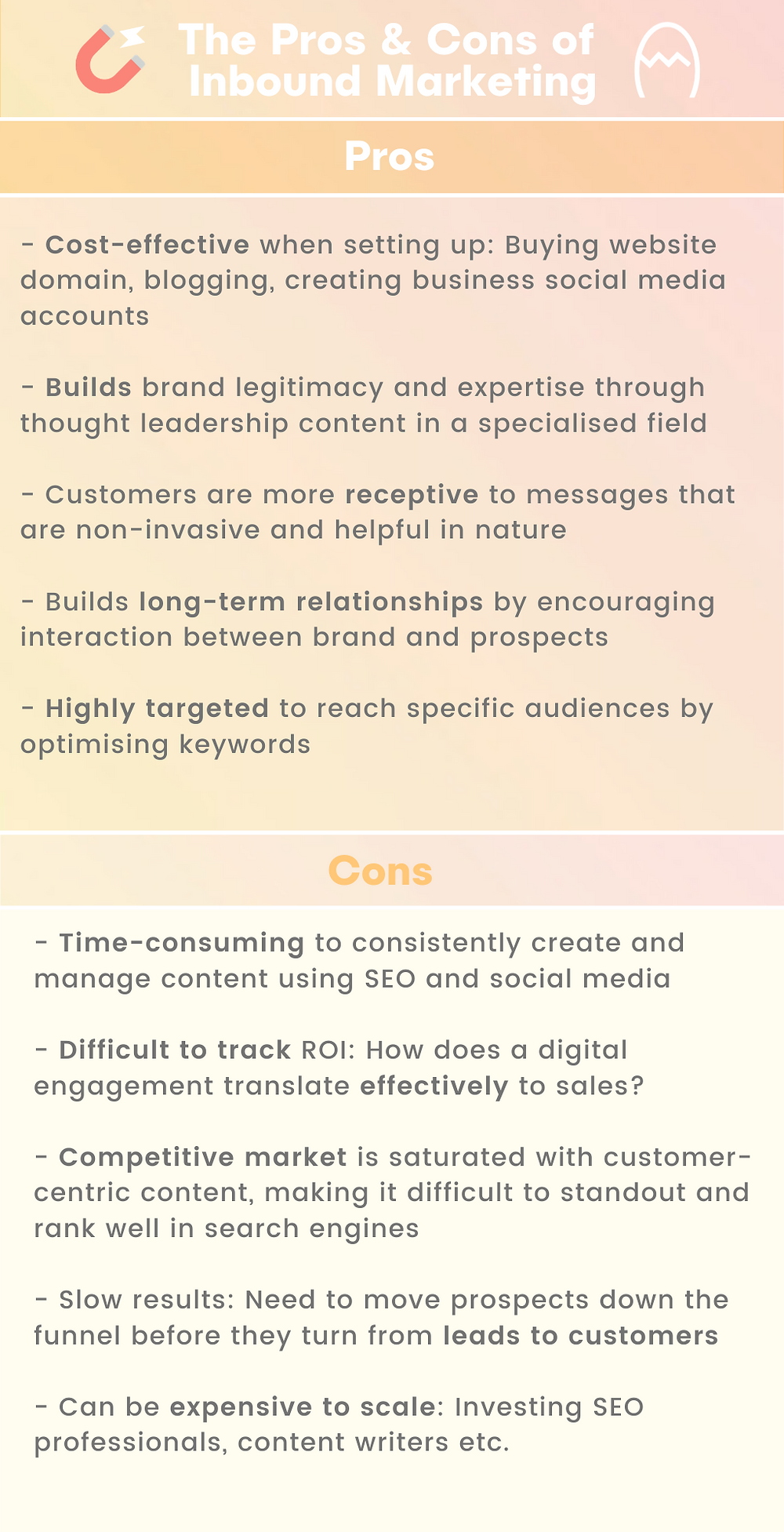 Pros and cons of inbound marketing