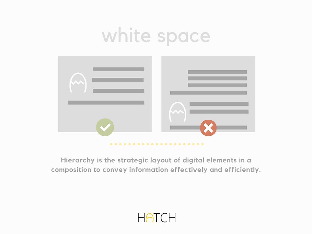 white space design principle