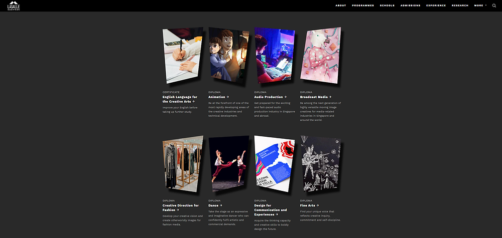 Lasalle College of the Arts website