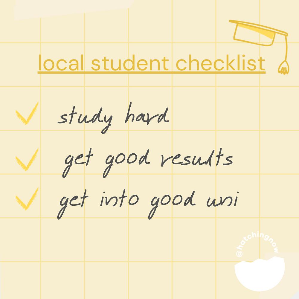 Student Checklist Singapore
