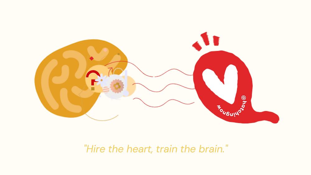 Hire the heart, train the brain