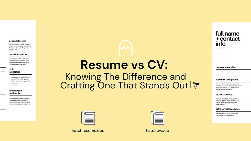 a comparison between resume vs cv templates