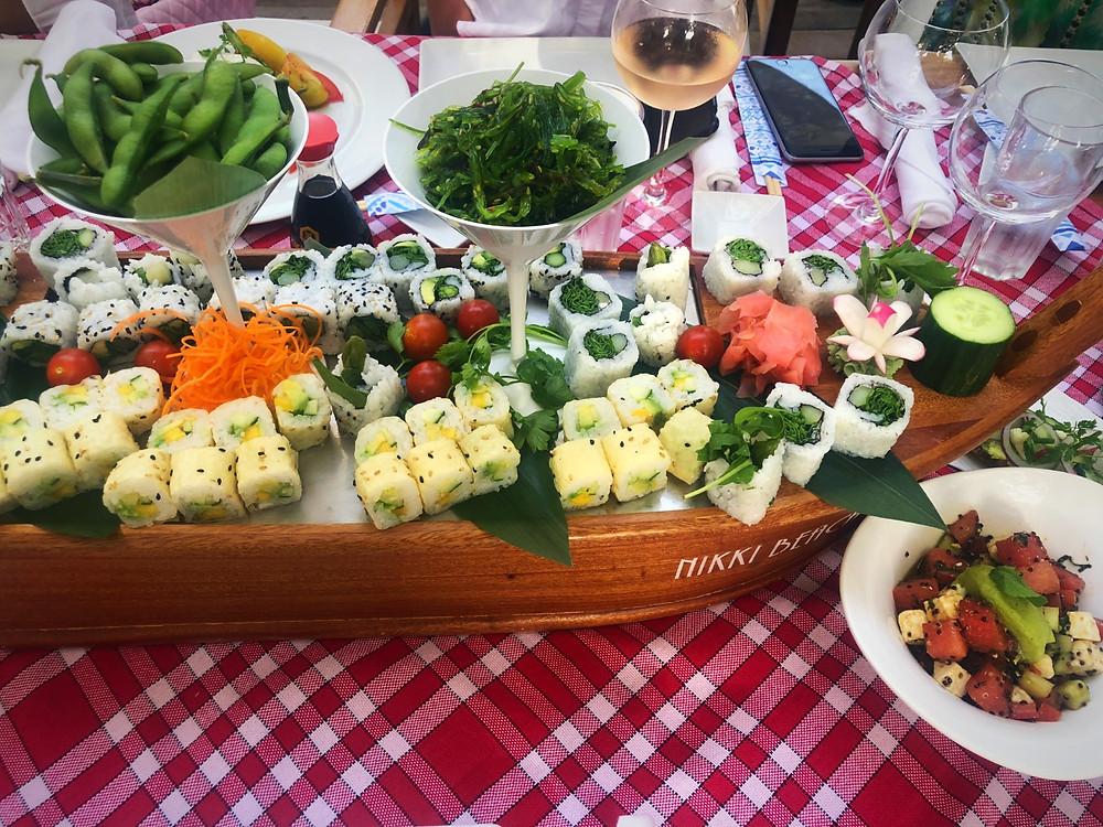 Sushi Boat, Nikki Beach Club