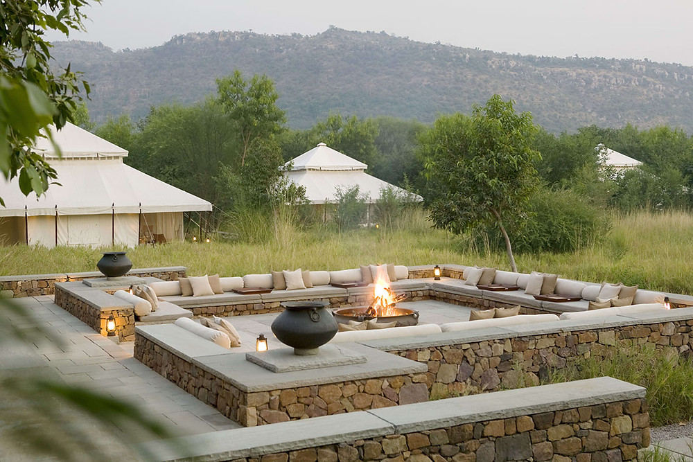 Outdoor Fireplace, Aman-i-Khas