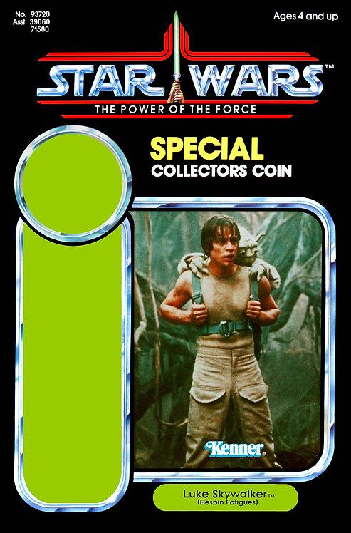 Luke Skywalker Bespin Fatigues on Dagobah POTF 92 Back Custom