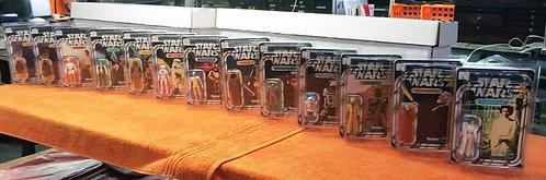 STAR WARS 12 Back Re-Carded Set Complete 13 Figures!