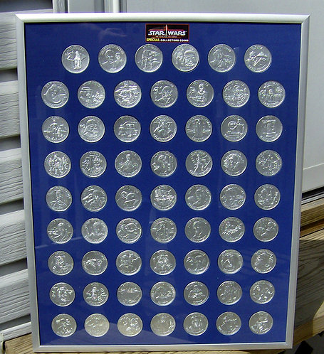 POTF Replica Coins Frame - All 62 w/frame.