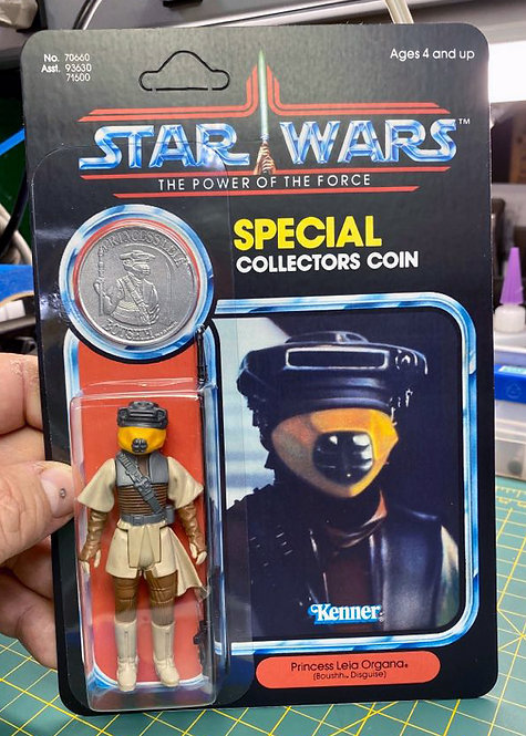 Leia Boushh Disguise (Custom) - POTF 92 Back