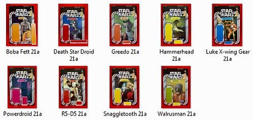 Complete STAR WARS 21 Back Set