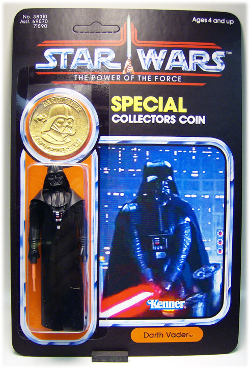 Darth Vader Gold Coin, Cloud City -  (Custom) - POTF 92 Back