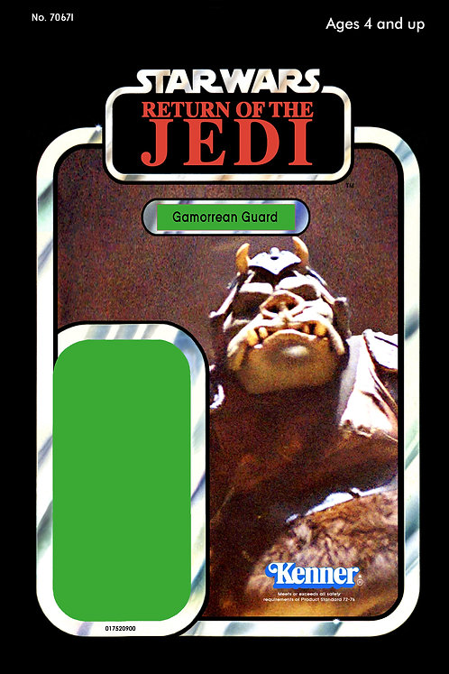 Gamorrean Guard ROTJ 65b Back Custom