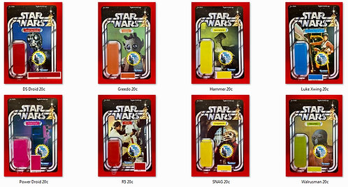 Complete STAR WARS 20c Back Set